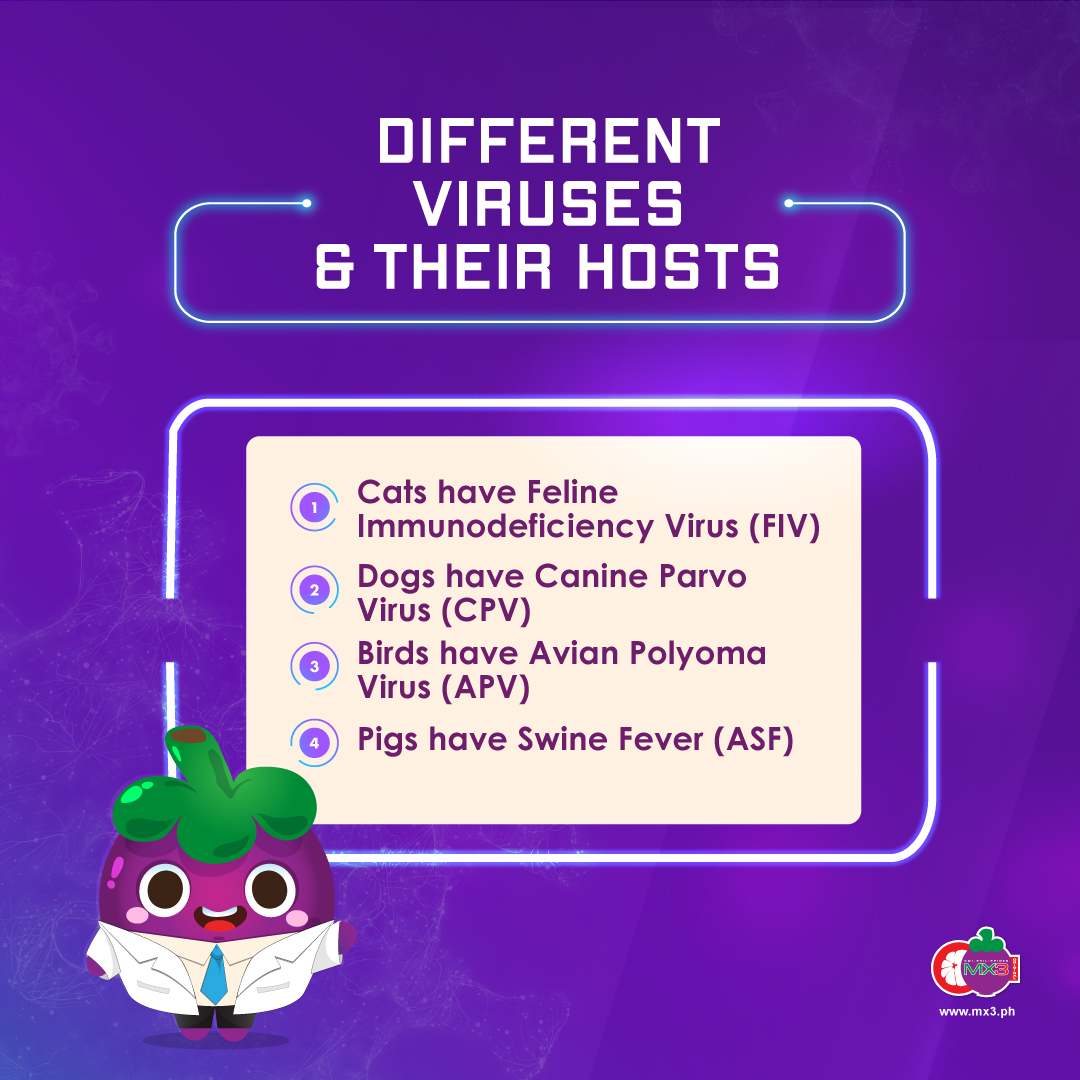 DIFFERENT VIRUSES & THEIR HOSTS