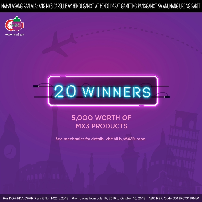 Travel the World with MX3 Prizes
