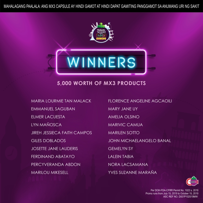 winners of travel promo