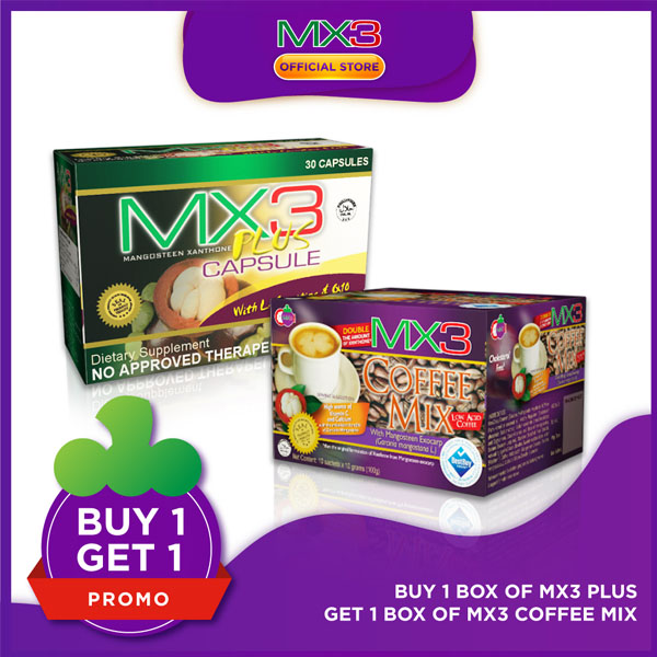 Promo: Buy 1 box MX3 Plus Get 1 box MX3 Coffee