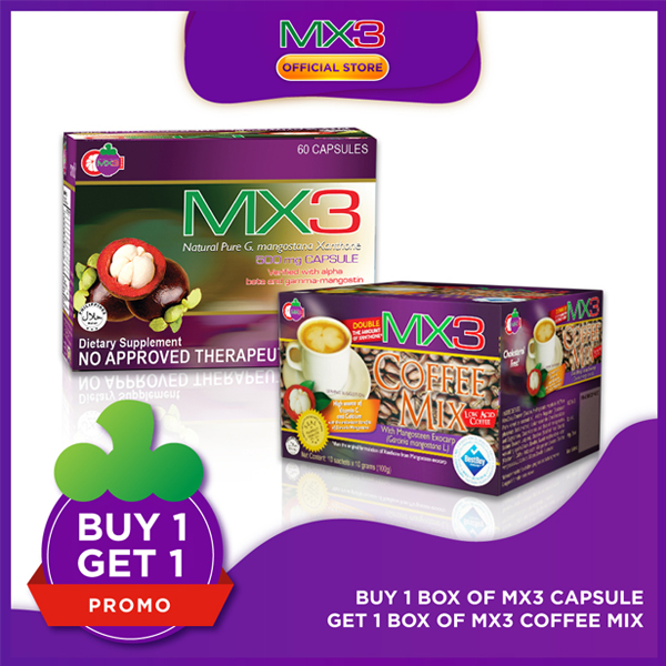 Promo: Buy 1 box MX3 Capsule Get 1 box MX3 Coffee